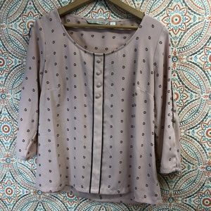Lauren Conrad | Rose Pink Dotted Blouse